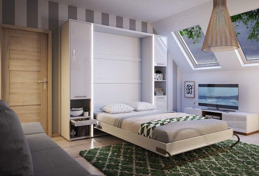 comprar cama abatible matrimonio vertical abierta