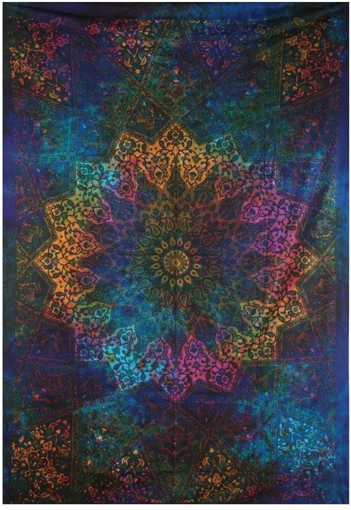 tapiz pared mandala estrella
