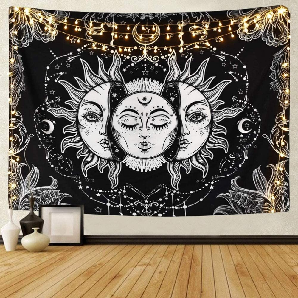 tapiz pared sol luna