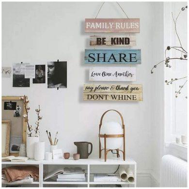 adornos madera pared